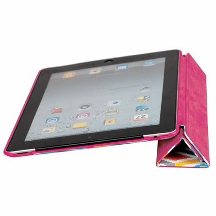 Stepped Diamonds iPad Case with Stand