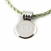 Sterling Silver Large Round Pendant with Coil Barrel