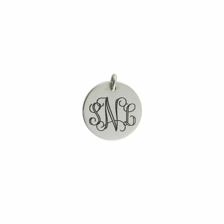 Sterling Silver Large Round Pendant with O-ring Attachment