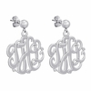 Sterling Silver Monogram Earrings - Script