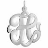 Sterling Silver Monogram Initial Necklace - Script