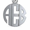 Sterling Silver Monogram Necklace - Block