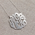 Sterling Silver Monogram Necklace - Script