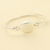 Sterling Silver Monogram Oval Bangle