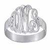 Sterling Silver Monogram Ring - Script