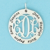 Sterling Silver Mother's Medium Cutout Pendant