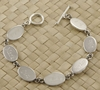 Sterling Silver Oval Disk Mother's Bracelet
