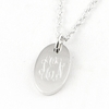 Sterling Silver Oval Pendant with O-Ring Attachment