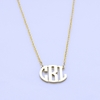 Sterling Silver Petite Circle Monogram Necklace