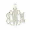 Sterling Silver Petite Floating Monogram Pendant