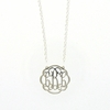 Sterling Silver Petite Flourish Monogram Necklace