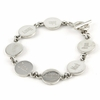 Sterling Silver Round Disk Mother's Bracelet