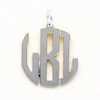 Sterling Silver Small Circle Monogram Pendant