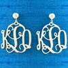 Sterling Silver Small Filigree Monogram Earrings