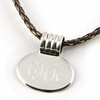 Sterling Silver Small Oval Pendant with Coil Barrel
