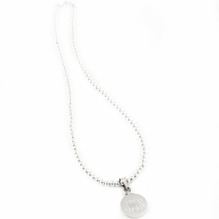 Sterling Silver Small Round Pendant