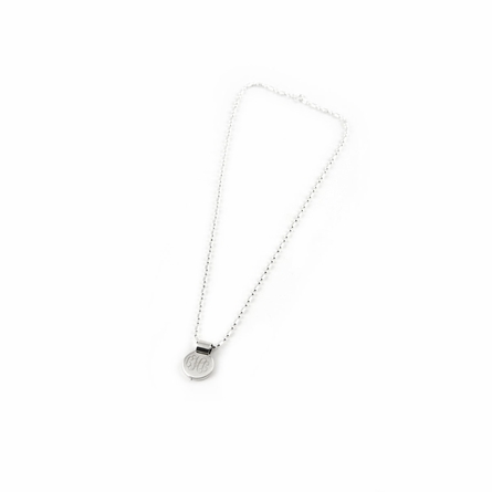 Sterling Silver Small Round Pendant with Barrel