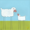 Stick-leg Sheep Canvas Reproduction
