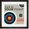 Stick to Your Point Framed Art Print