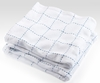 Stitched Plaid Coverlet - White/French Blue