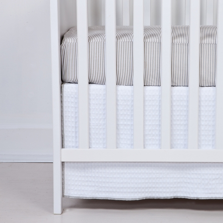 Stone Stripe Fitted Organic Crib Sheet