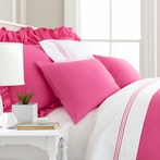 Stone Washed Fuchsia Pillow Sham