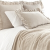 Stone Washed Linen Ruffled Euro Sham