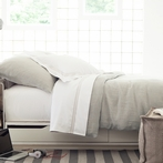 Stone Washed Pearl Linen Duvet Cover