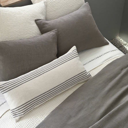 Stone Washed Shale Linen Duvet Cover