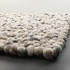 Stones Wool Ball Rug in Light Gray