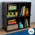 Storage Unit with Shelves in Espresso