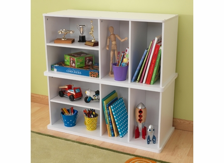Storage Unit with Shelves in White