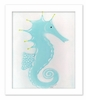 Stormy the Seahorse Framed Canvas Reproduction