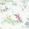 Storybook Print Upholstery Fabric by the Yard