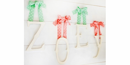 Storybook Wooden Wall Letters in White