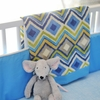 Street of Dreams in Blue Baby Blanket