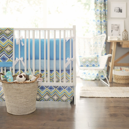 Street of Dreams in Blue Crib Bumper