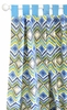 Street of Dreams in Blue Curtain Panels - Set of 2
