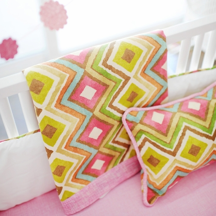 Street of Dreams in Pink Throw Pillow