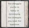 Strength and Struggle Vintage Framed Art Print