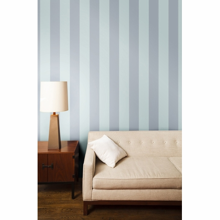Stripe Cotton Blue Removable Wallpaper