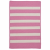 Stripe It Rug in Bold Pink