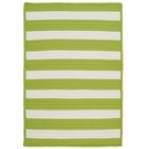 Stripe It Rug in Bright Lime