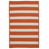 Stripe It Rug in Tangerine