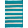 Stripe It Rug in Turquoise