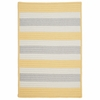 Stripe It Rug in Yellow Shimmer
