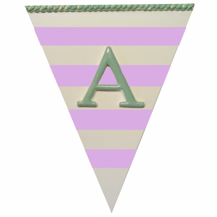 Stripe Pennant Plaque