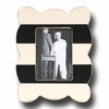 Stripe Scallop Coal Picture Frame