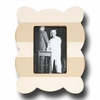 Stripe Scallop Linen Picture Frame