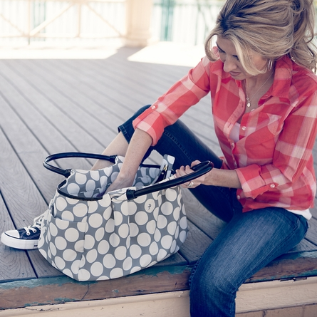 Stripe Allure Diaper Bag